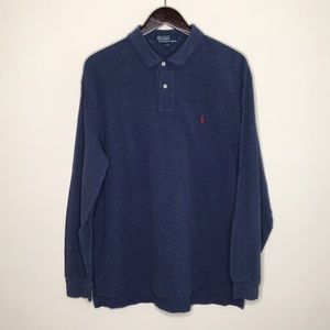 Polo By Ralph Lauren Navy Blue Long Sleeve LG